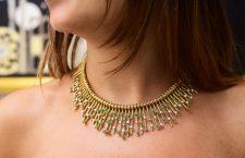 Collana di alta gioielleria Tiffany: oro giallo, diamanti e smeraldi