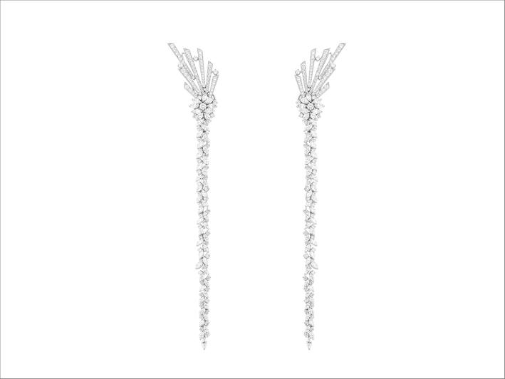 Orecchini con 5,23 carati di diamanti taglio brillante e 1,68 taglio marquise