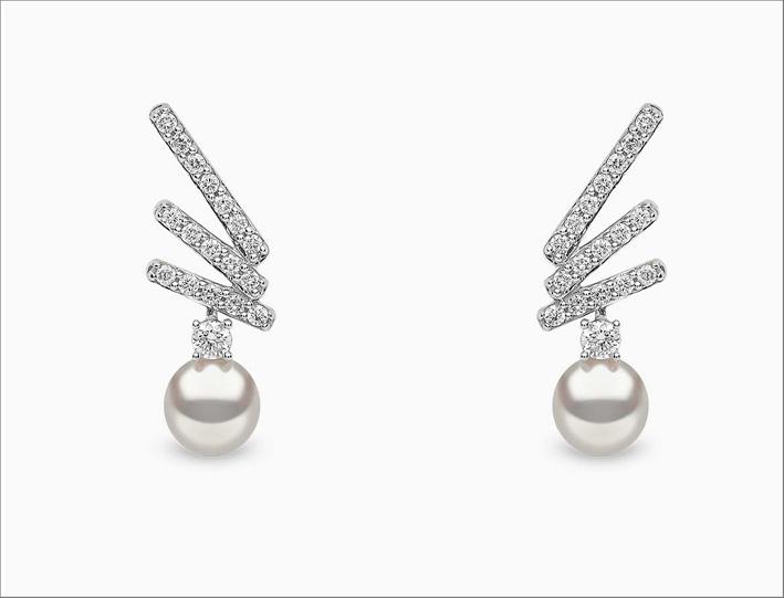 Orecchini di Yoko London in oro bianco, diamanti e perle Akoya