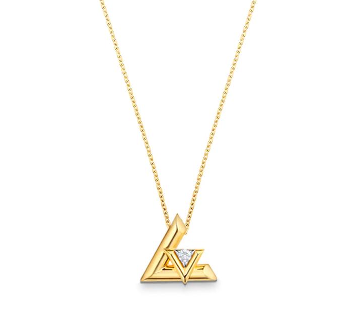 Pendente in oro giallo con diamante