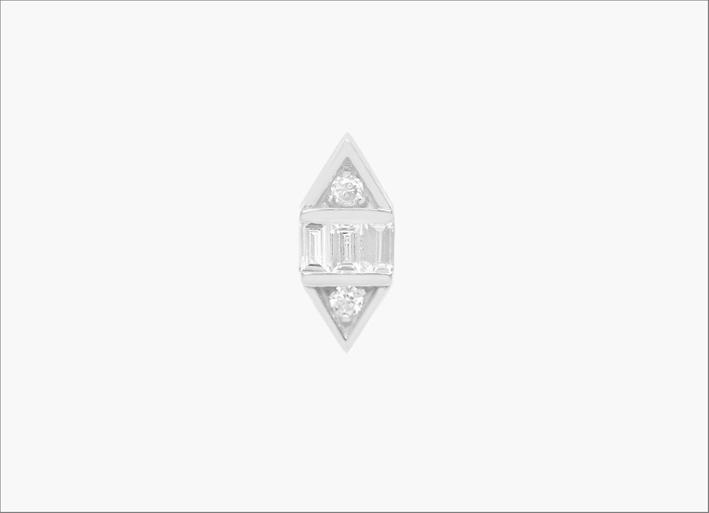 Piercing in oro bianco e diamanti di Djoula
