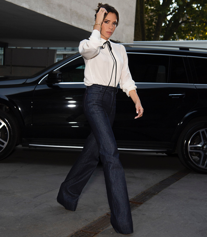 Victoria Beckham durante la London Fashion Week