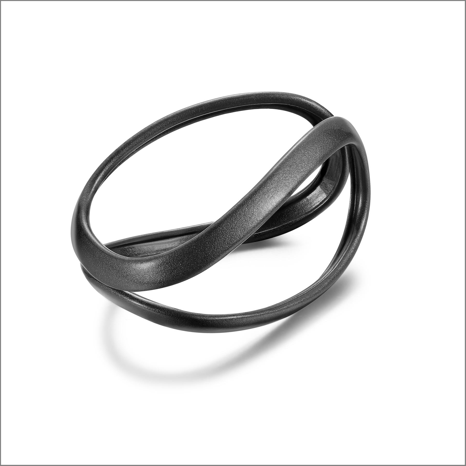 Bracciale in argento rodiato nero