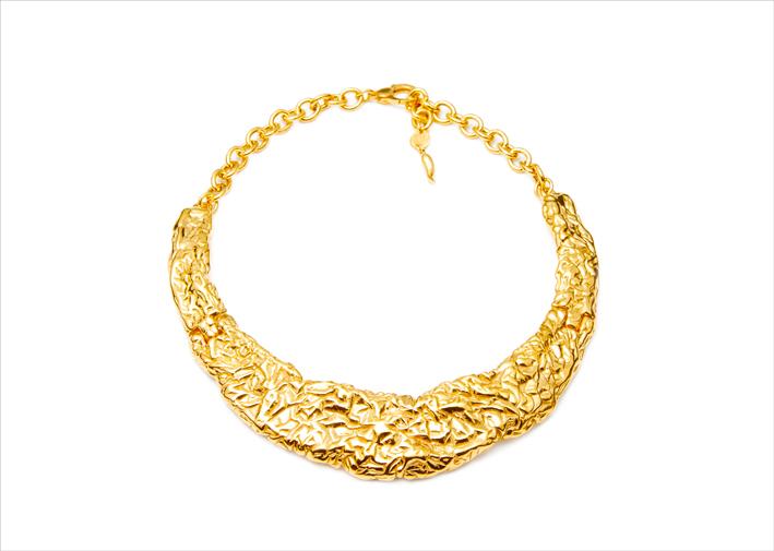 Collana in argento in bagno d'oro