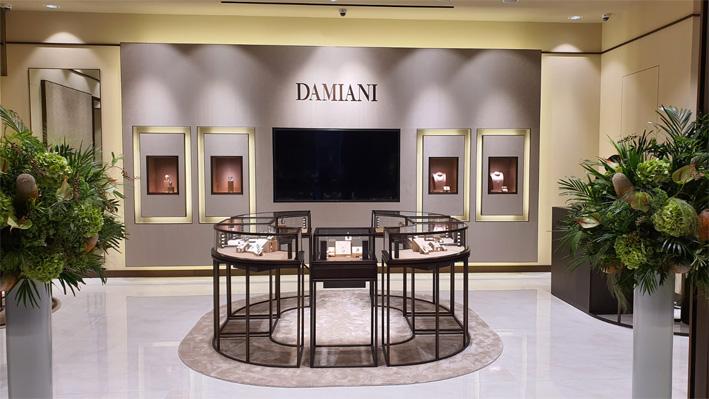 La boutique Damiani a Busan, in Corea