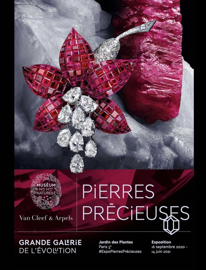La locandina della mostra Pierres précieuses