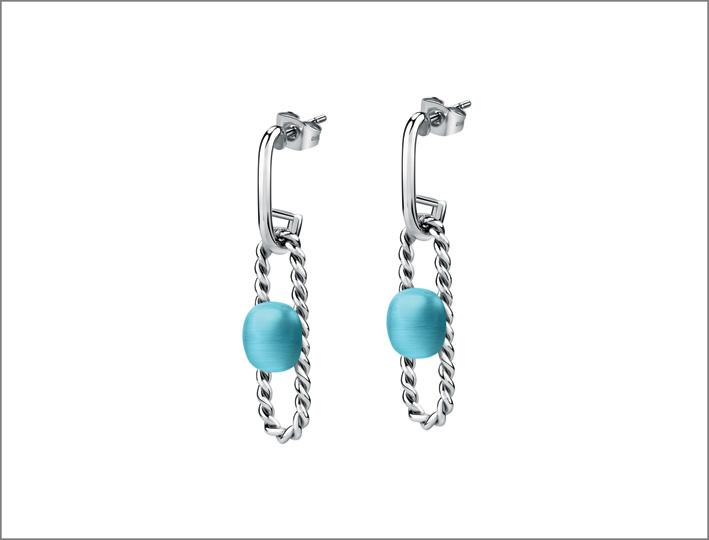 Morellato, orecchini con pietra azzurra