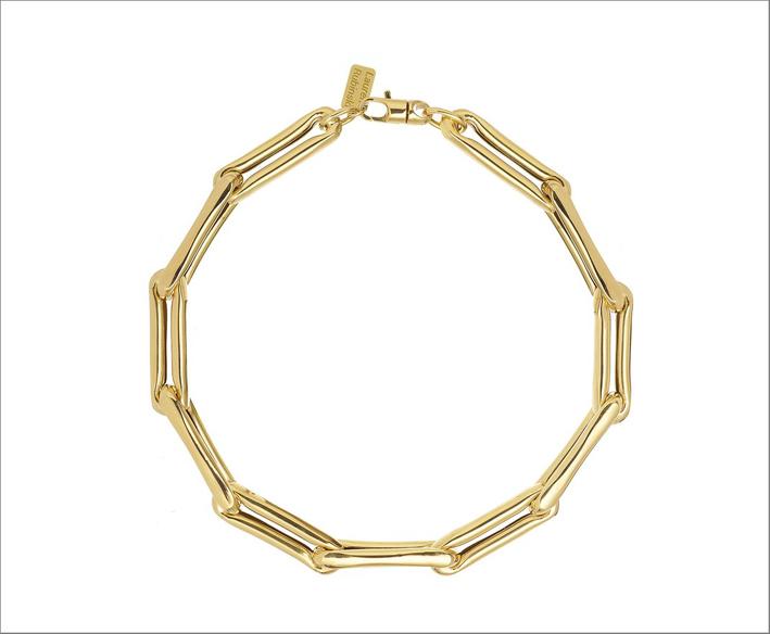 Collana con anelli in oro giallo