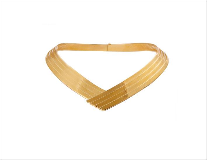 Leda Madera, collier in ottone placcato oro