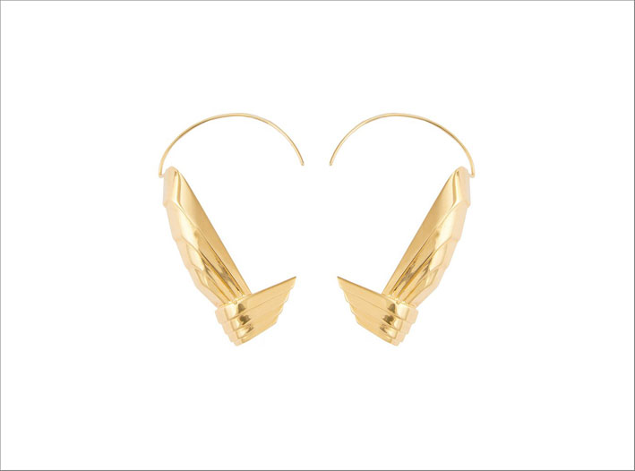 Leda Madera, orecchini in ottone placcato oro