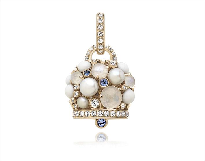 Campanella con perle e zaffiri