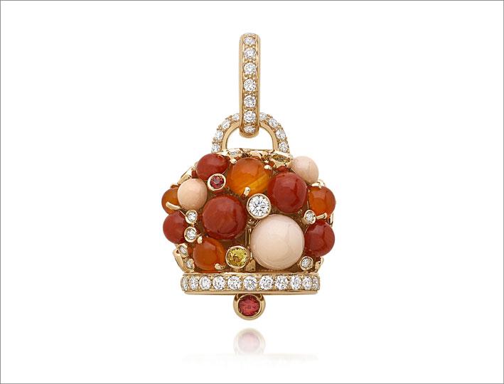 Campanella con coralli e diamanti