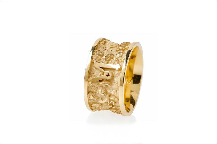 Anello Itinere in oro giallo 9 carati