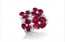 Anello Hortensia con diamanti e rubini