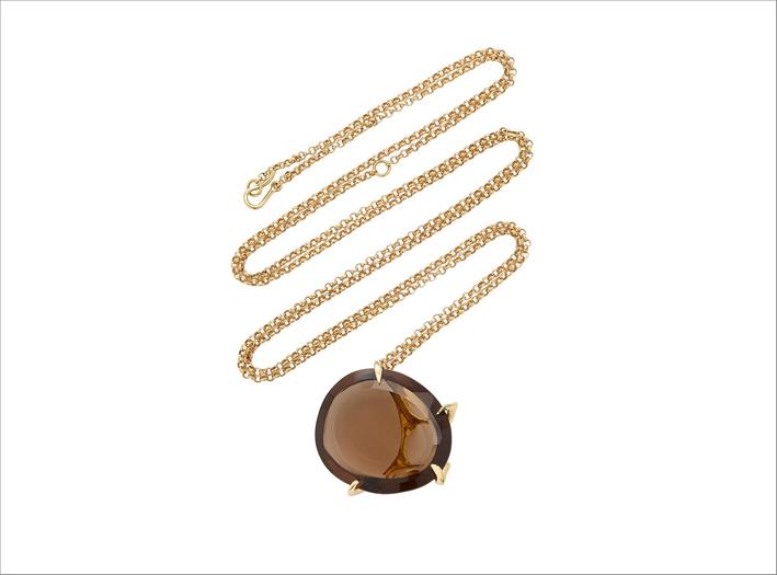 Collana in oro 18 carati con quarzo Envolto