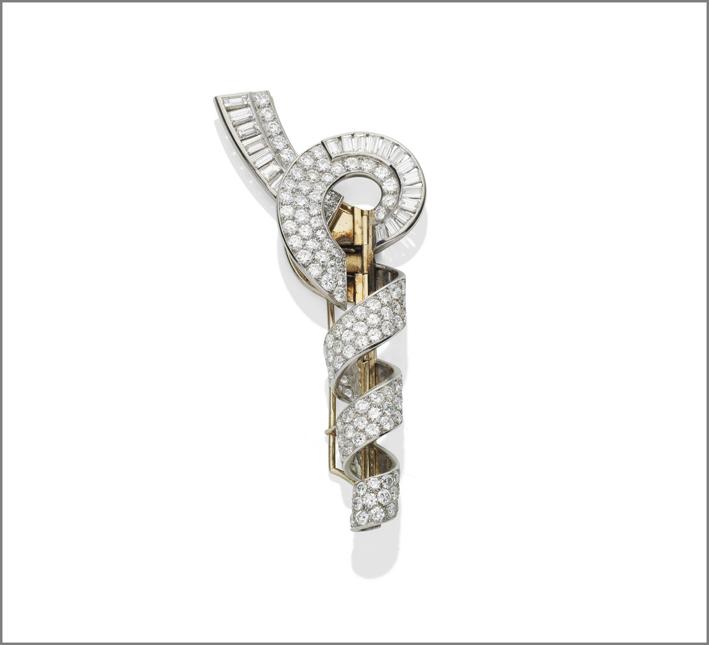 Spilla di diamanti di Van Cleef & Arpels di proprietà di Joan Collins