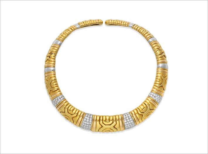 Collana in oro e diamanti