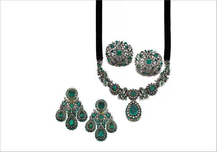 Paure con diamanti e smeraldi, circa 1770