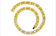 Collana stile art déco in oro  bicolore 18 carati