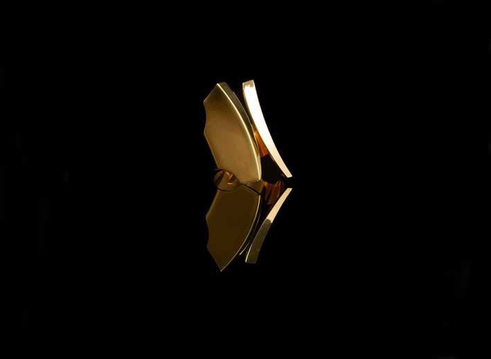 Anello Ali di farfalla, in oro