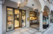 Esterno della boutique Rocca a Lugano