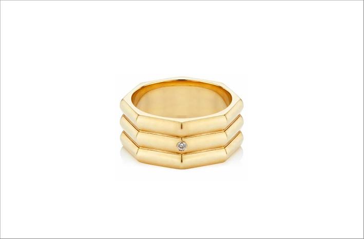 Anello Milestone in oro 18 carati e diamante