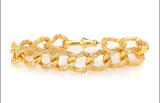Bracciale The Unreal City, bagnato in oro giallo 24 carati