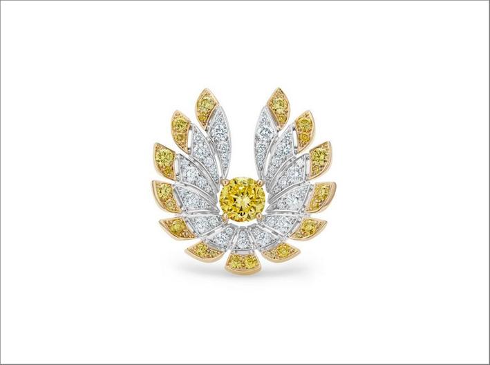 Anello con diamanti bianchi e gialli Namib Wonder