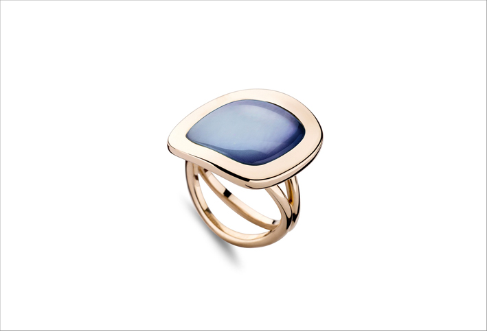 Anello in oro rosa con Lapis Dream