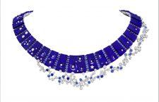 Collana Ciel de Minuit in oro bianco 18 carati, lapislazzuli, zaffiri e diamanti by Van Cleef & Arpels