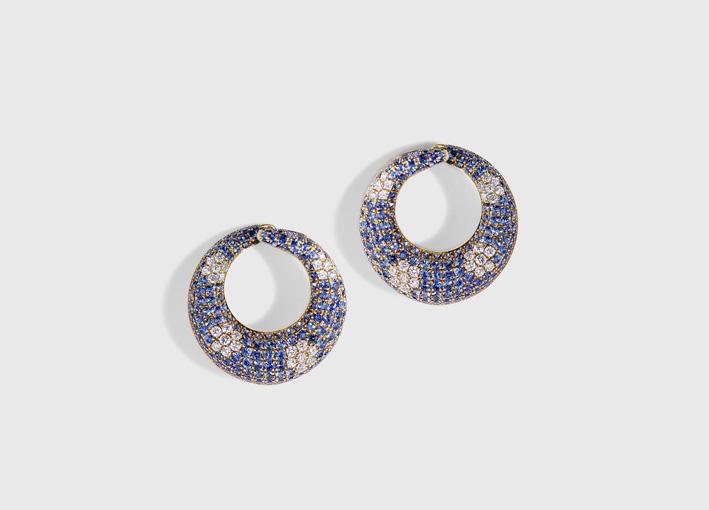 Orecchini Nisha con diamanti e zaffiri