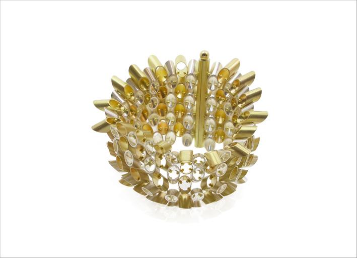 Bracciale in oro giallo 18 carati e argento sterling