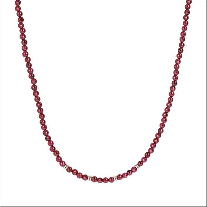 Collezione Terra, collana con perle di granato