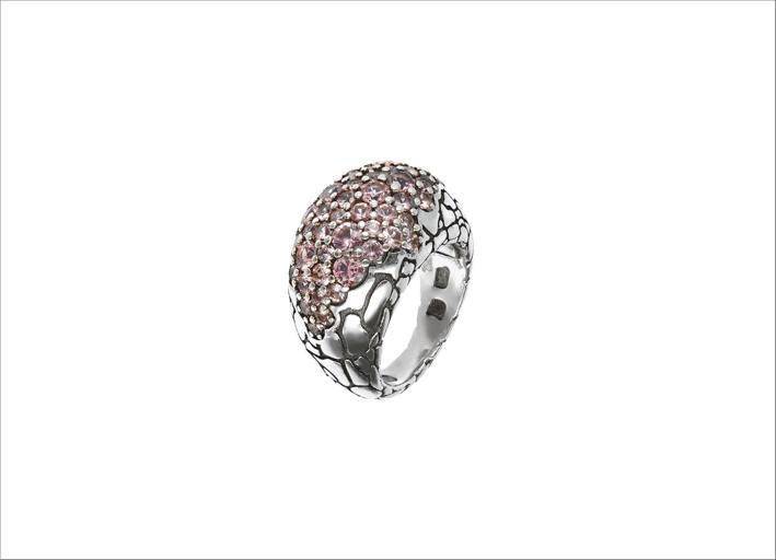 Anello in argento con morganite