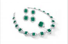 Parure di diamanti e smeraldi colombiani