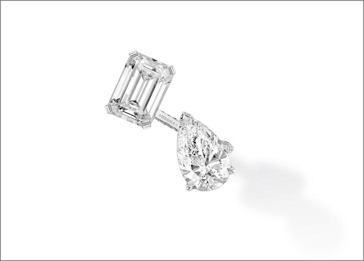 Anello di diamanti Toi&Moi
