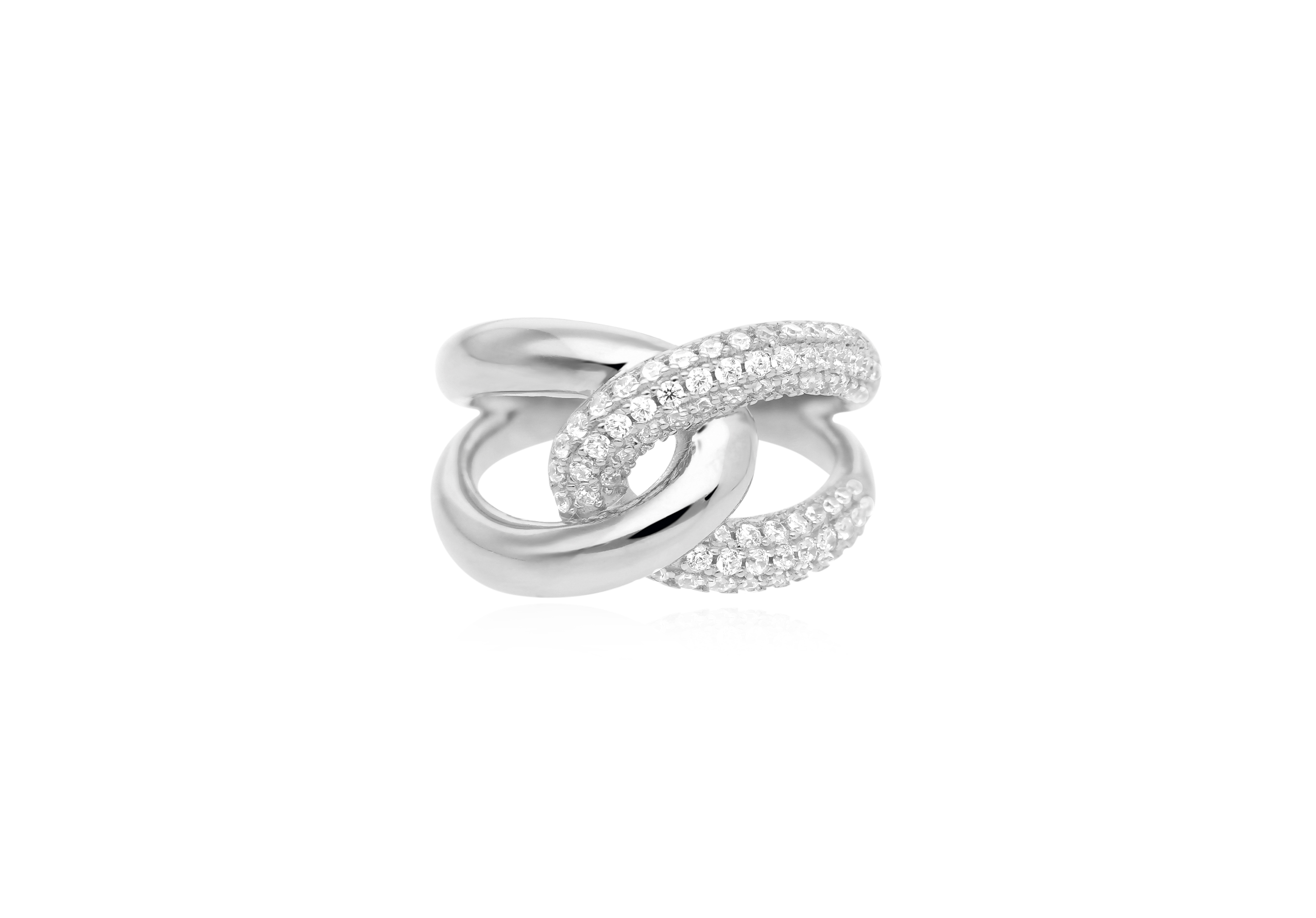 Anello in argento con cubic zirconia