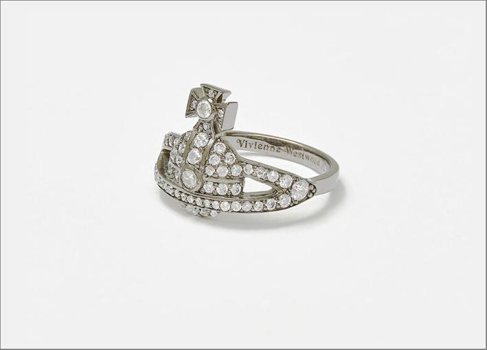 Anello in argento e cristalli Swarovski