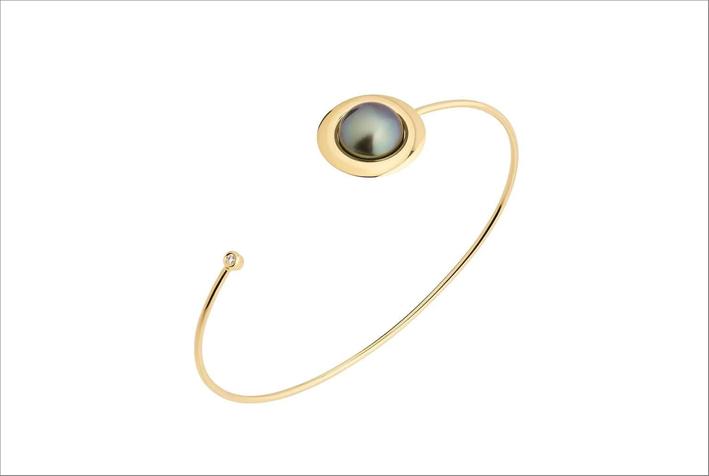 Bracciale Orion in oro 18 carati e perla di Tahiti