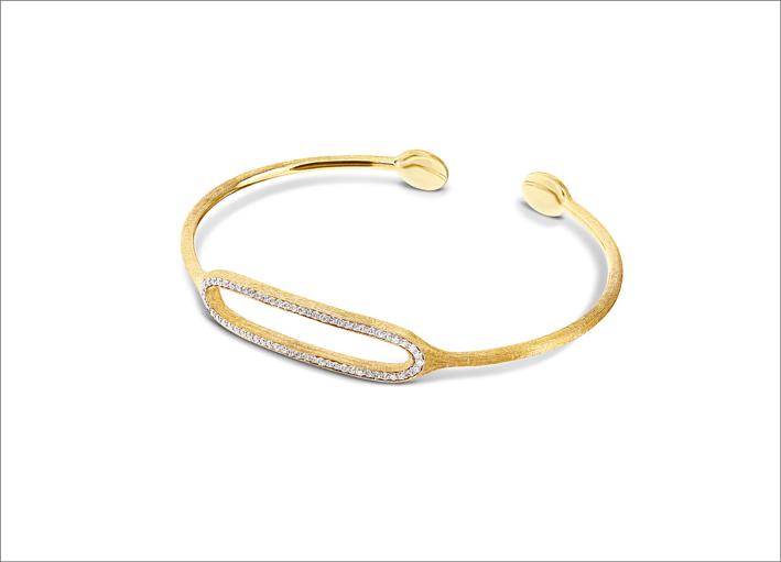 Bracciale rigido in oro e diamanti