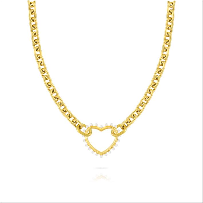 Collana con catena con finitura oro