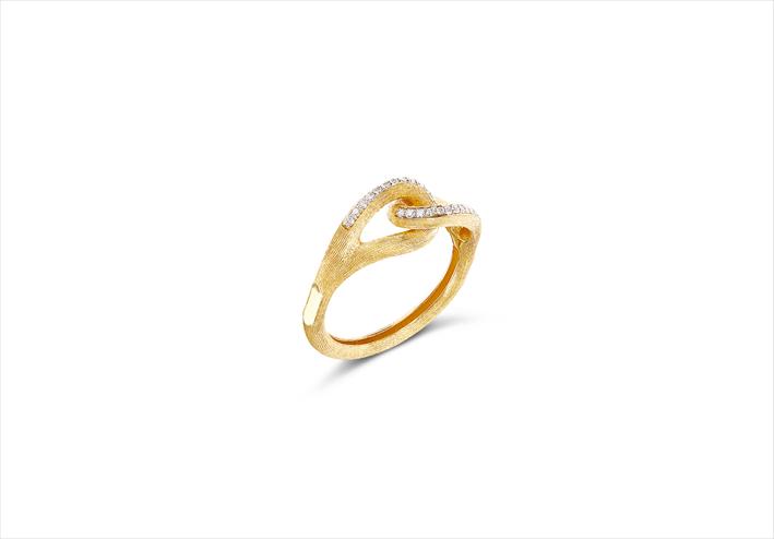 Anello in oro 18 carati e diamanti