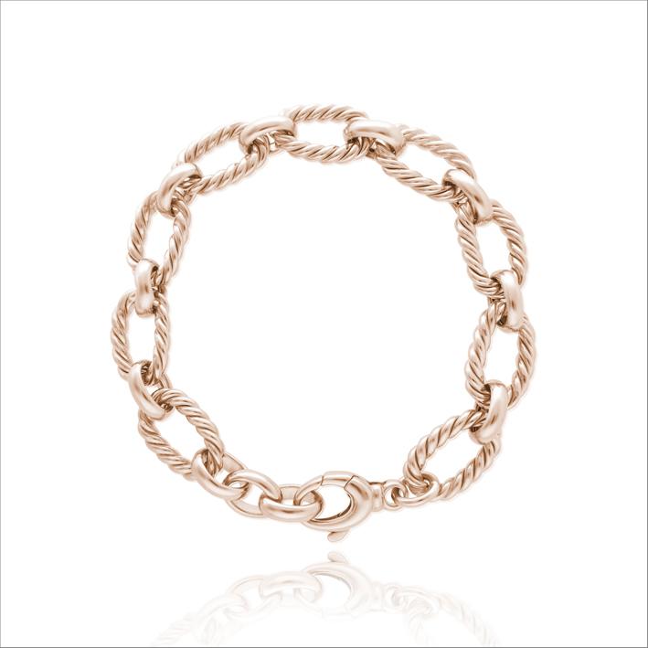 Bracciale a catena in argento rosato
