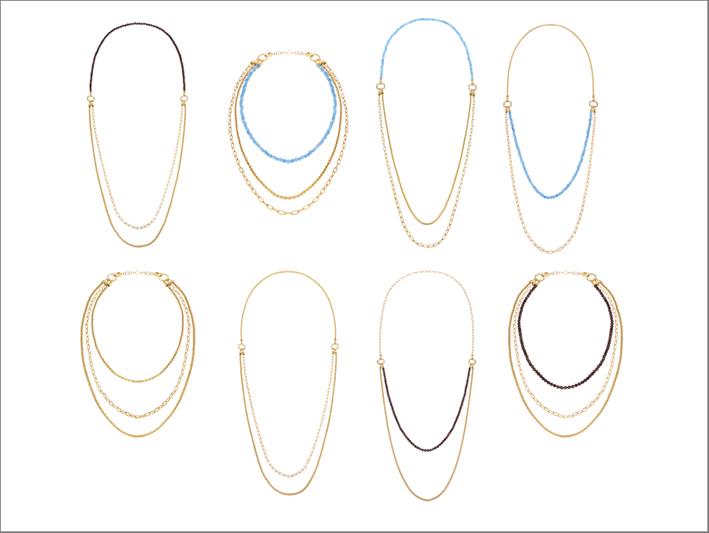 Collane trasformabili della collezione Kaleido