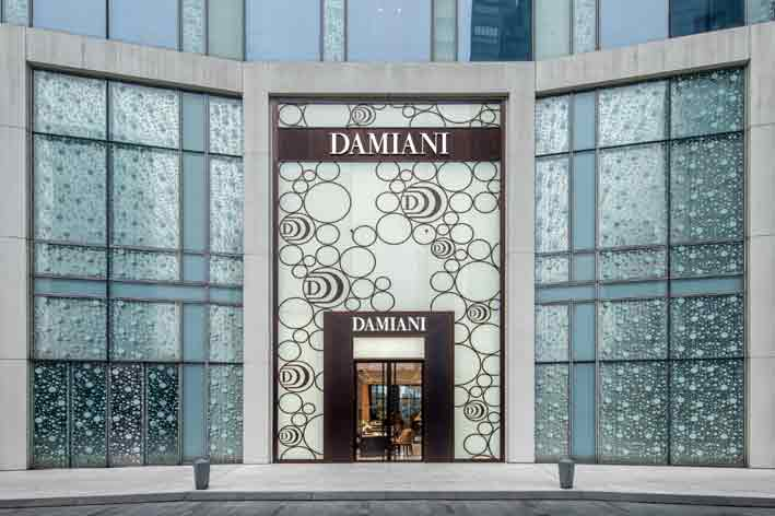 L'ingresso del flagship store Damiani a Shanghai