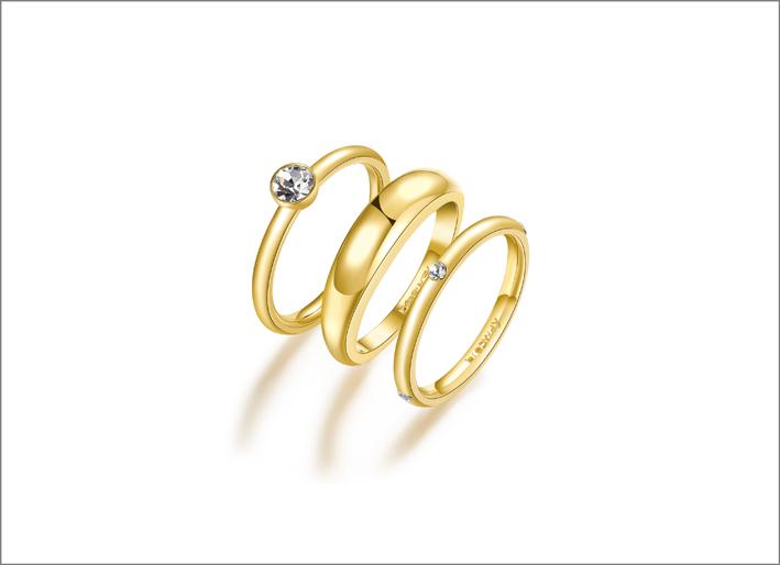 Set di anelli della collezione Symphonia