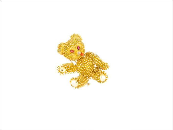 Spilla Teddy Bear firmata Van Cleef & Arpels