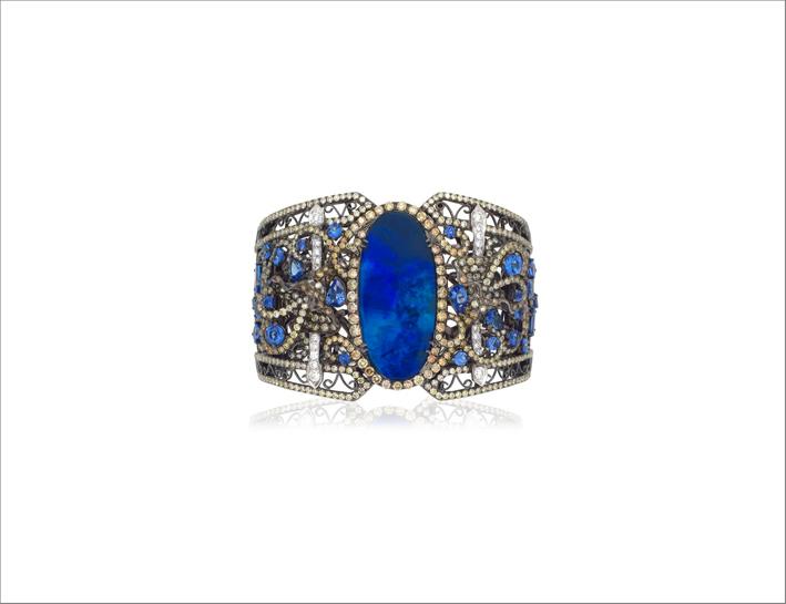 Bracciale con opale blu