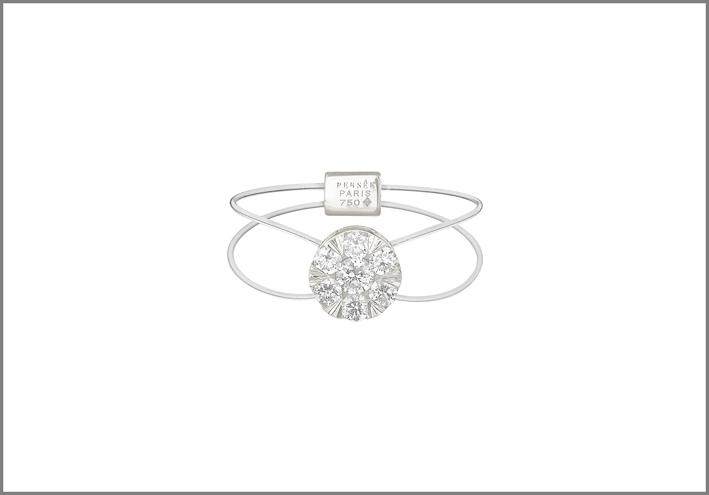 Anello con diamante taglio brillante