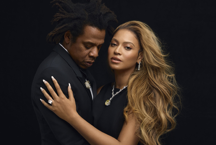 Beyoncé e Jay-Z con i gioielli TIffany
